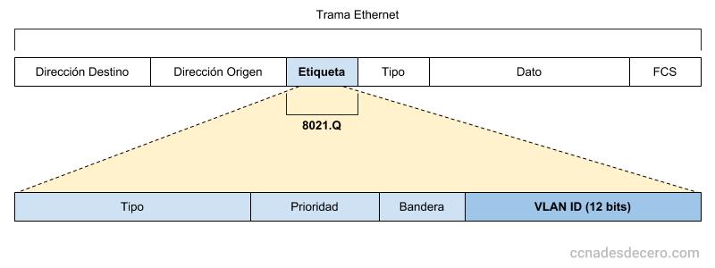 Cabecera 802.1Q Trunking Tag